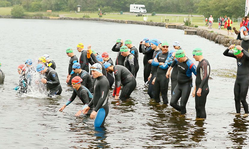Titan Brecon Swim Start